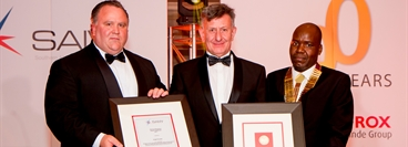 Schalk Venter MD, Angel Krustev winner and Mr Morris Maroga President of SAIW